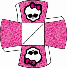 Monster High Printable Boxes | Monster High: Free Printable Boxes.