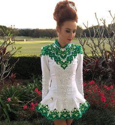 Irish Dance, Photoshoot Inspiration, Dance Dresses, Dance Costumes, Dream Dress, Celebrity Weddings, Designer Dresses, Celtic Mythology, Triple Goddess