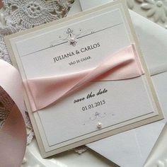 """""""Save the date mais lindo fita transada! Quem não fica ansioso o casamento recebendo save tão delicado e cheio de amor! Mais infos.: contato@scards.com.br…"""""""