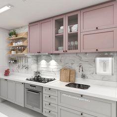 A simplicidade aconchegante que vc ama 💗 Que acharam ? Home Decor Kitchen, Kitchen Furniture, Kitchen Interior, Home Interior Design, Kitchen Cabinet Drawers, Kitchen Cabinets, Beautiful Kitchens, Cool Kitchens, Home Design Plans