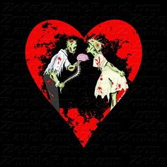 Zombie Love with Heart TShirt by zedszombieranch on Etsy, $20.00