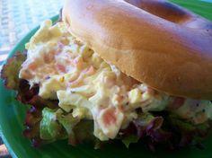 Salmon-egg salad