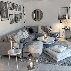 Living Room Design Ideas: Tips for choosing style, Decoration and Furniture - ChecoPie Living Room Themes, Living Room Decor Cozy, Living Room Grey, Home And Living, Living Room Designs, Living Spaces, Scandinavian Style Home, Scandinavian Living, Home Decor Shops
