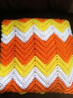 Halloween Ripple Crochet Baby Afghan Blanket on Luulla by murtsss d98c0b7f59d1
