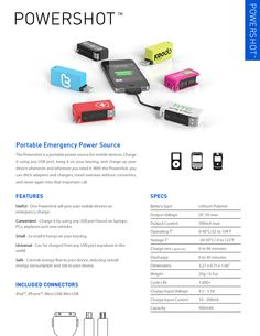 Portable, brandable emergency power source. #promotional #technology