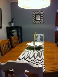 Easy DIY table runner from Target dishtowels www.decorellaknox.com