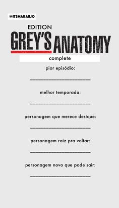 Grey's Anatomy, Bingo, Humor, This Or That Questions, Wallpapers, Friends, Name For Instagram, Movie List, Novels