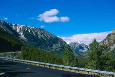 Beartooth Highway begins its ascent out of Rock Creek Canyon, just south and east of Red Lodge Montana, toward the west summit. Red Lodge Montana, Beautiful World, Beautiful Places, Beartooth Highway, Big Sky Country, Cross Country, Great American Road Trip, So Little Time, Dream Vacations