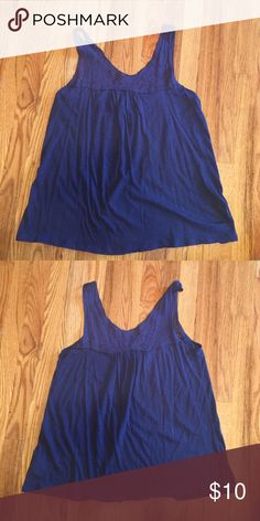 Old Navy cotton tank Blue, lightweight, soft, Old Navy Tops Tank Tops