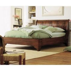 Stratford Flame Mahogany Sleigh Bed by Charles P. Rogers on HomePortfolio