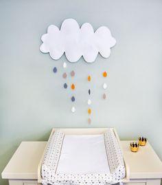Chmura - dekoracja ścienna w muzpony na DaWanda.com