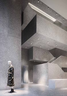 The Valentino Flagship Store on New York's Fifth Avenue has opened to the public.  •Date: 2013-2014.  •Architect: David Chipperfield Architects, Milan. •Photography: Santi Caleca.