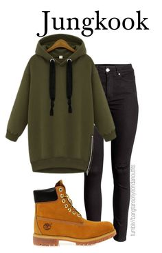 """late night walk in park w jungkook"" by bangtanoutfits ❤ liked on Polyvore featuring Timberland, kpop, bts, BangtanBoys and jungkook"