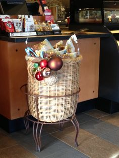 Christmas Ornaments at Omagari Starbucks