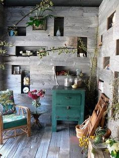 could also be a reading nook/sun room if you place books in the wall spaces