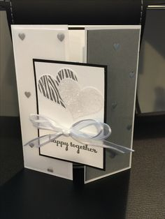 Stampin Up Wedding Card, Fancy Fold Wedding Card