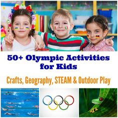 Olympic Games themed crafts, outdoor activities, STEAM ideas Kids Olympics, Special Olympics, Summer Olympics, 2020 Olympics, Track And Field Events, Olympic Track And Field, Track Field, Geography Activities, Stem Activities