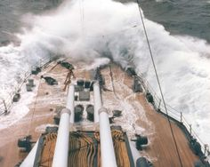 This is a nice reproduction of an original World War Two photo showing the USS Texas taking on heavy seas in World War Two. USS Texas in Heavy Seas. WW II in C O L O R. Size of photo is about x Uss Hornet Cv 12, Uss Texas, Us Battleships, Scale Model Ships, Naval History, Military History, Us Navy Ships, Tug Boats, United States Navy