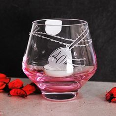 Dartington Crystal Celebrate Ruby 40th Anniversary Candle Votive