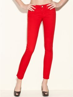 GUESS Brittney Skinny Jeans - Multi Colors, RED (23)