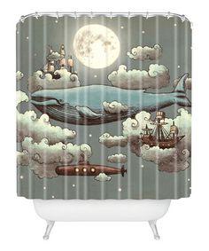 Ocean Meets Sky Shower Curtain #zulily #zulilyfinds