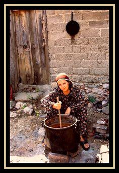Türk köylü kızı