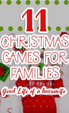 11 Christmas Games for Kids - - 11 family friendly games for kids to play at Christmas. Perfect for hosting a Christmas party, or just hanging out with the family. Christmas Party Games For Groups, Funny Christmas Games, Family Games To Play, Fun Christmas Party Games, Christmas Games For Adults, Xmas Games, Holiday Games, Christmas Humor, Kids Christmas