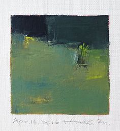 Apr. 16, 2016 - Original Abstract Oil Painting - 9x9 painting (9 x 9 cm - app. 4 x 4 inch) with 8 x 10 inch mat