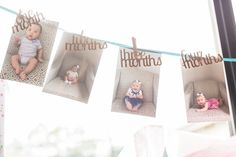 First year photo banner from a Mermaids & Pirates Birthday Party via Kara's Party Ideas KarasPartyIdeas.com (18)