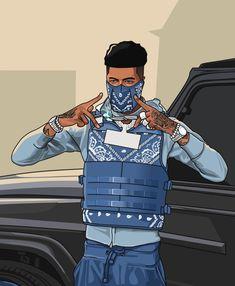 Arte Do Hip Hop, Hip Hop Art, Dope Cartoons, Dope Cartoon Art, Crazy Wallpaper, Nike Wallpaper, Photographie Street Art, Rapper Outfits, Rapper Art