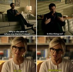 lucifer and dr. martin --- 1x04: Manly Whatnots