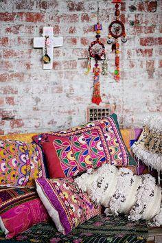 societyofwanderers.bigcartel.com Boucherouite rug, Moroccan Wedding Blanket, Handira cushions, kantha, dreamcatchers