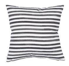 Black Hawthorne Stripe Pillow