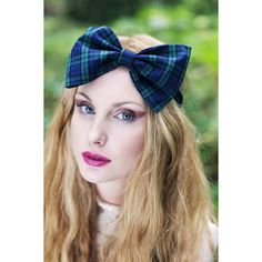Tartan Bow Headband,Tartan Headband, Oversized Bow Headband- RED OR... (255 ZAR) ❤ liked on Polyvore featuring accessories, hair accessories, plaid headband, green hair accessories, red bow headband, red bow headwrap and hair band headband