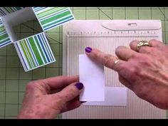 Card in a Box tutorial -- I like her construction method and the card fits in an envelope Card Making Tips, Card Making Tutorials, Card Making Techniques, Fancy Fold Cards, Folded Cards, Boite Explosive, Pop Up Box Cards, Card Boxes, Exploding Box Card