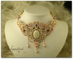 Etsy の Sahara Sunrise soutache necklace by Happyland87