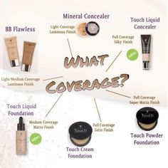 Younique Mineral Touch Foundation and Liquid Foundation. Which foundation coverage is best for you? Www.youniqueproducts.com/LashesforDaysByStaceyLeigh