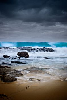 Blue Wave, Margaret River Mouth MR405D by Christian Fletcher