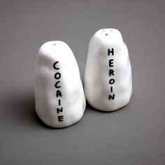 I WANT! anyone want to gift me??  one of the best salt and pepper shakers ive ever seen.  by david shrigley buy them here