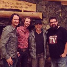 Tim, Austin, and Rob with Bryan White.