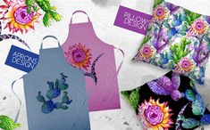Watercolor Cactuses - PNG Wildflower Illustration #Illustration #Cactuses #Watercolor #PNG