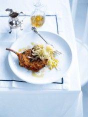 Crunchy pork cutlet with cabbage slaw - Donna Hay recipe Pork Cutlet Recipes, Pork Recipes, Cooking Recipes, Game Recipes, Recipes Dinner, Dessert Recipes, Desserts, Pork Cutlets, Pork