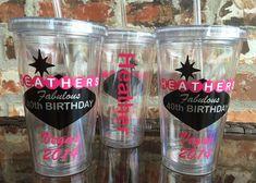 Las Vegas Sign Birthday Party Tumbler by VinylGifts on Etsy