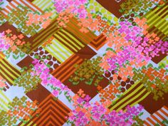 60s or 70s print fabric