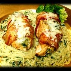 Spinach Stuffed Chicken Breast -