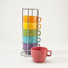 Stacking Mugs for small spaces. World Market. $12.99