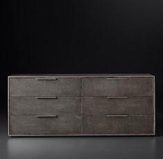 Smythson Shagreen 6-drawer Low Wide Dresser