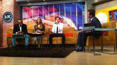 Minutos antes de la entrevista, David Bisbal convivió con el equipo de Primero Noticias, Daniela Escalante, Ingrid Barrera, Mauricio Clark, ...