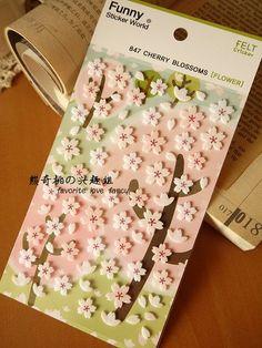 Korean Sonia Sticker Flower Sakura Nature Natural cute by homyhomy, $2.99