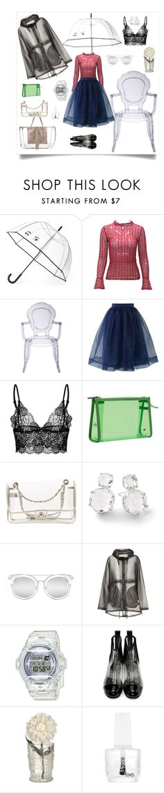 """""""It's not a facade"""" by tiffanie22 ❤ liked on Polyvore featuring Kate Spade, Chicwish, Stephanie Johnson, Chanel, Ippolita, Quay, Hunter, Baby-G, Comme des Garçons and Maybelline"""